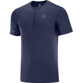 Salomon Agile Graphic Camiseta Manga Corta HZ Hombre, night sky/ebony